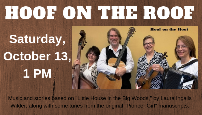 Musicians: Hoof on the Roof  perform Saturday October 13 at 1 pm