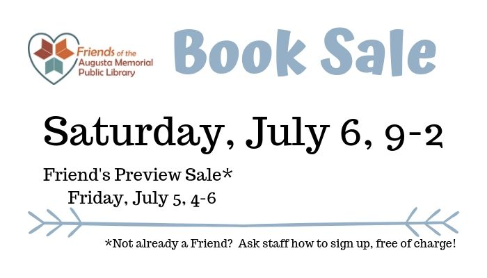 Book Sale Saturday, July 6, 9-2