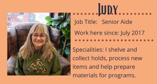 Judy, Senior Aide