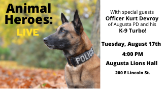 Animal Heroes: Live August 8 at 4 pm